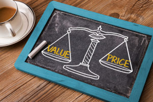 value versus price